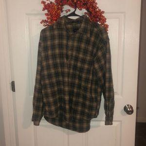 Van Heusen button up flannel